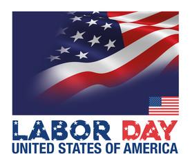 Labor Day - Usa Flag Background