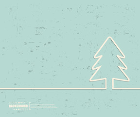 Creative vector Christmas tree. Art illustration template background. For presentation, layout, brochure, logo, page, print, banner, poster, booklet, business infographic, wallpaper, sign, flyer.