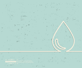 Creative vector water drop. Art illustration template background. For presentation, layout, brochure, logo, page, print, banner, poster, cover, booklet, business infographic, wallpaper, sign, flyer.