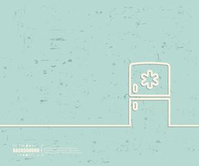 Creative vector fridge. Art illustration template background. For presentation, layout, brochure, logo, page, print, banner, poster, cover, booklet, business infographic, wallpaper, sign, flyer.