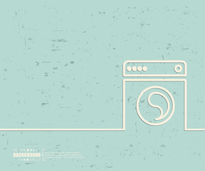 Creative vector washing machine. Art illustration template background. For presentation, layout, brochure, logo, page, print, banner, poster, booklet, business infographic, wallpaper, sign, flyer.