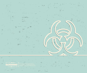 Creative vector Bio hazard. Art illustration template background. For presentation, layout, brochure, logo, page, print, banner, poster, cover, booklet, business infographic, wallpaper, sign, flyer.