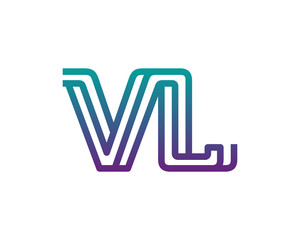 VL lines letter logo