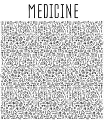 Hand drawn Medicine element