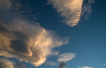 Beautiful cloud over blue sky background
