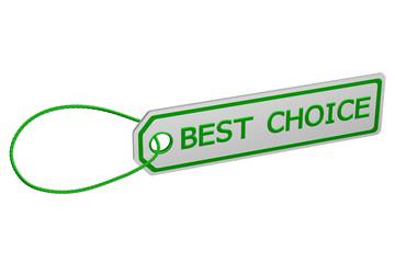 Best choice tag