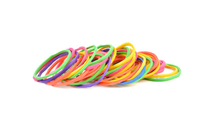 pile of colorful rubber bands