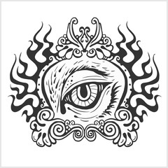 Abstract eye for tattoo design