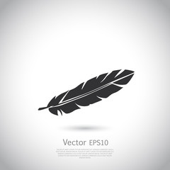 Feather icon or logo.