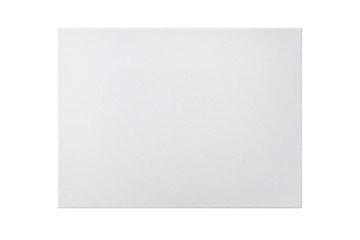 Blank canvas frame isolated on white background, clipping path i