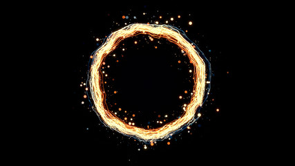 glowing particle ring