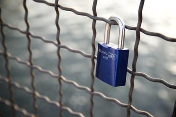 Love padlock view