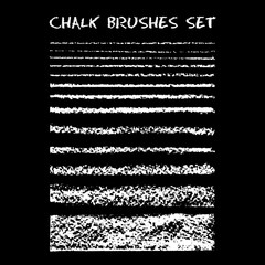 Set of chalk brushes.