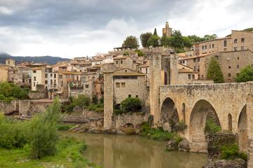 Printed kitchen splashbacks Monument Medieval town of Besalu in Catalonia, Spain