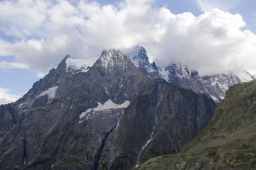 Le mont Pelvoux et la momie (PN Ecrins / Hautes-Alpes)