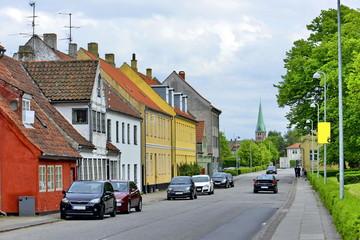 Helsingor city Danish houses