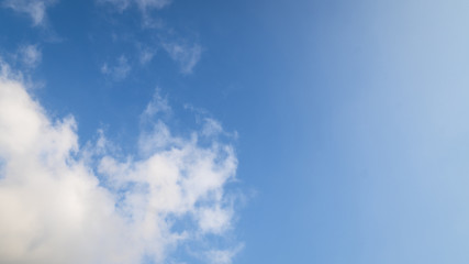 Blue Sky Space with Cloud