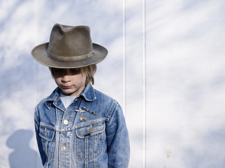 Boy wearing hat