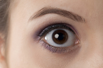 woman's right eye