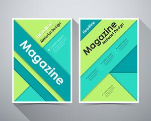 Material design, Concept of Headline Magazine, Green color tone,