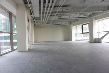 new bright empty building interior