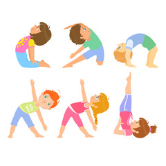 Kids Doing Simple Yoga Poses