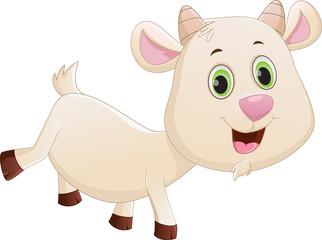 happy baby goat cartoon