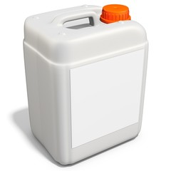 3d plastic canister, container