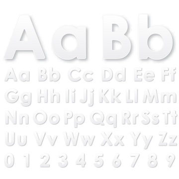 Alphabet letters on a white background