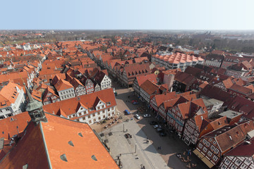 Germany, Lower Saxony, Celle, city view