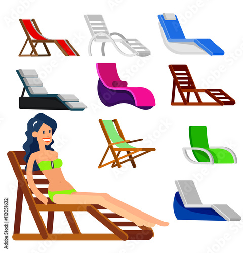 Wooden beach chaise longue stock image and royalty free for Beach chaise longue