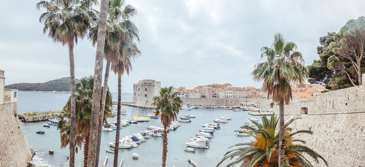Croatia, Dubrovnik, view to the old port