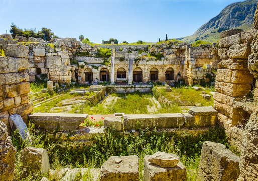 ruins in Ancient Corinth, Peloponnese