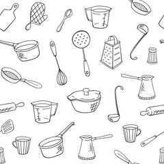 vector kitchen hand drawn pattern