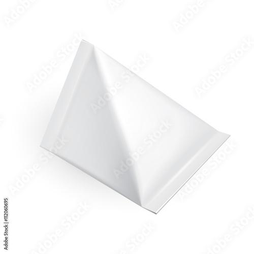 Tetrahedron Food Milk Carton Packages Blank White. Illustration ...