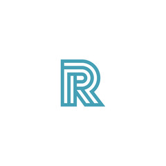 Impossible Letter R Logo design vector Linear Symbol Monogram