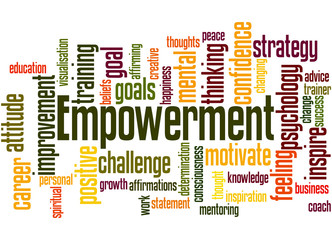 Empowerment, word cloud concept 6