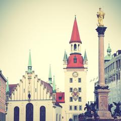 Wall Mural - Marienplatz in Munich