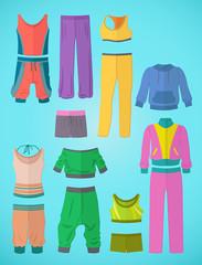 Sportswear in flat design