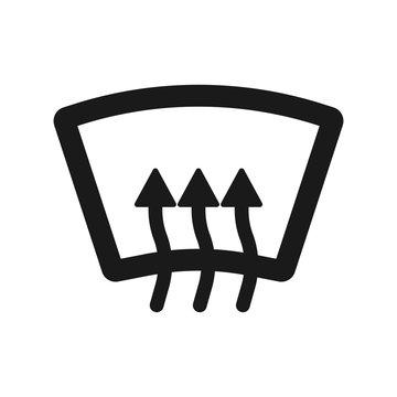 Rear window defrost icon