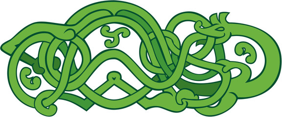 Urnes Snake Extended Stomach Retro