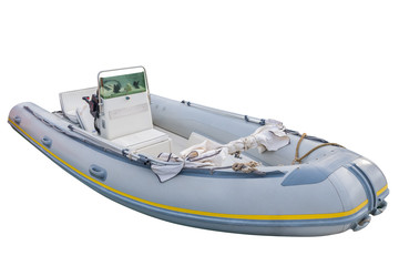 inflatable boat isolated on white background