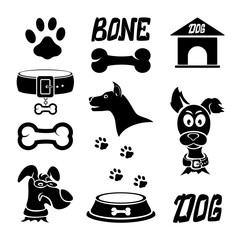 Black dog icons