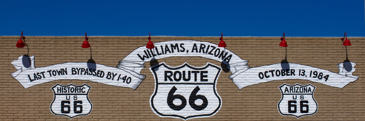 Route 66 sign in Williams, Arizona