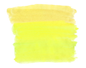 A fragment of the background in yellow tones painted with watercolors