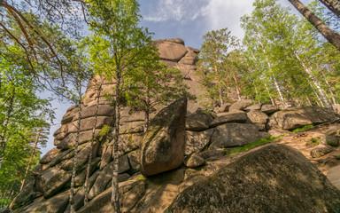 Скалы и горные вершины Сибири