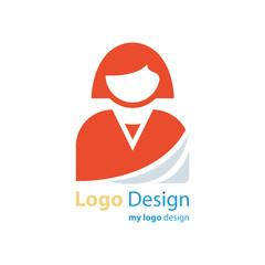 business avatar logo orange color