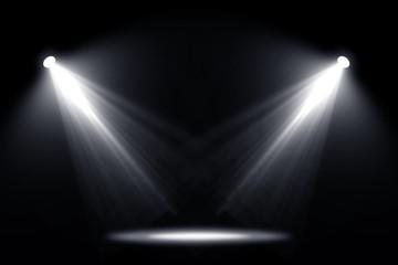 Spotlights light background.