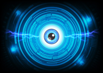 Abstract eye background. Futuristic technology style.
