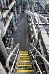 Stair of boiler building in power plant